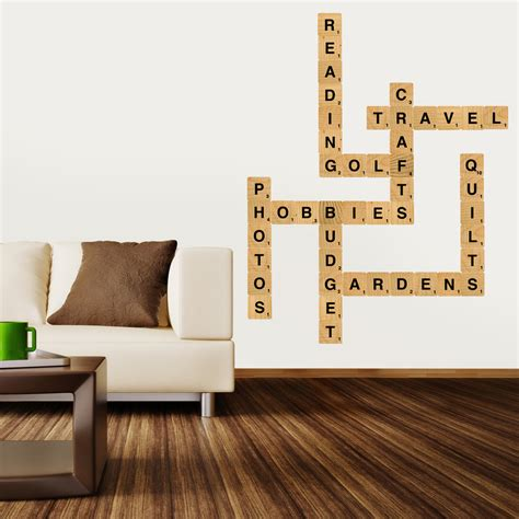 Block Letter Wall Decor by Letter Block Wall Decals Standard Size