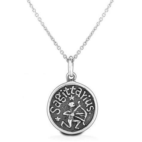 sagittarius zodiac sign medallion pendant necklace 925