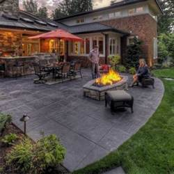 Cement Backyard Ideas Concrete Patio Ideas Designed For Your House Concrete
