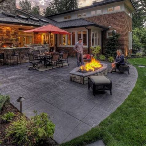 Concrete Patio Ideas Designed For Your House Concrete Concrete Patio Ideas Backyard
