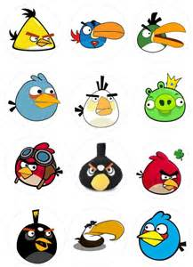 angry birds cupcakes cartoon game printables cliparts
