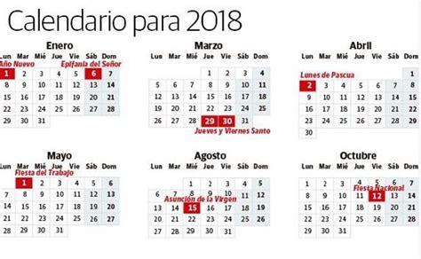 Calendario 2018 Sevilla Calendario Laboral 2018 Los D 237 As Festivos En Espa 241 A El