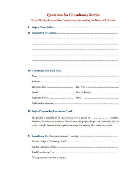 consultant quotation template 6 consultant quotation exles in word pdf