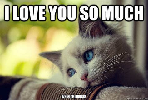 So In Love Meme - i love you so much when i m hungry first world problems