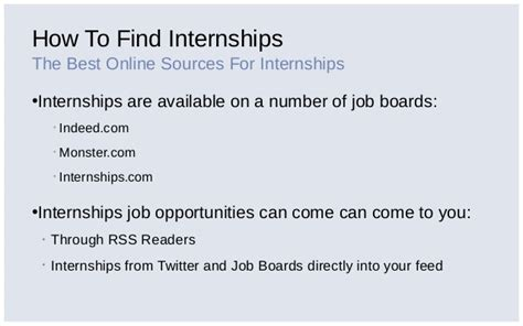 Mba Internships Indeed by How I Got An Internship