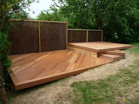 wood deck designs   balau hardwood decking brighton hove