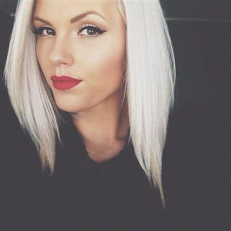 blonde bob red lips top 10 najmodniejsze kr 243 tkie fryzury damskie 2015 styllowy