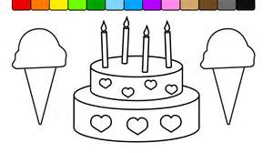 learn colors for kids and color this ice cream and cake