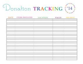 Donation Tracker Template by I Also A Form For Our Home Projects We A Lot Of