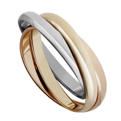 9ct two colour gold russian wedding ring