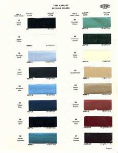 1959 Cadillac Colors Cadillac Paint Color Chart Newhairstylesformen2014