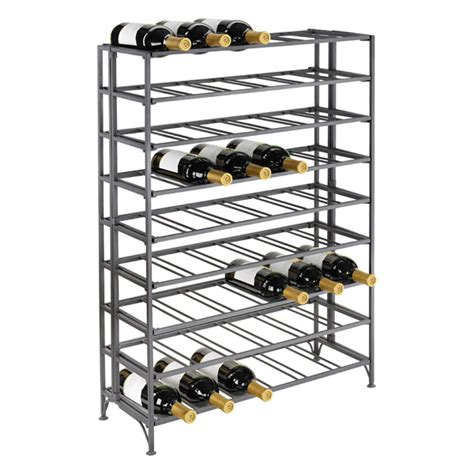 Container Store Wine Rack by 54 Bottle Iron Folding Wine Rack The Container Store