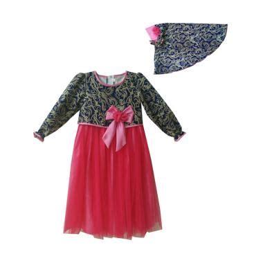 Gamis Anak Perempuan Balotelli Pita Murah Pink jual baby zakumi motif batik baju gamis anak perempuan navy pink harga kualitas