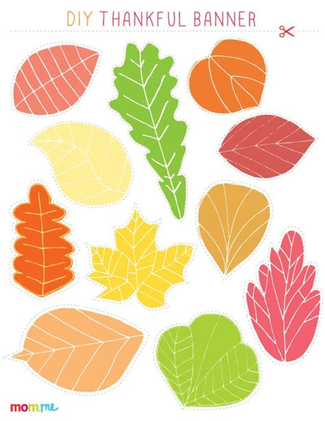printable thanksgiving leaves 7 best images of thankful leaves printable leaves