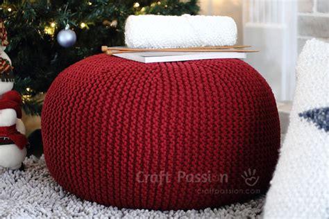 knitting pouf pattern pouf knitting pattern free craft
