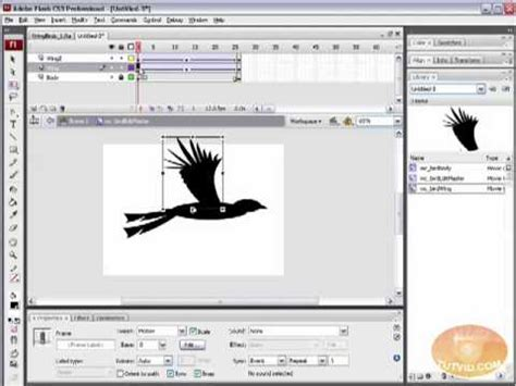 tutorial flash animation dynamic flying birds flash tutorial place movieclips w