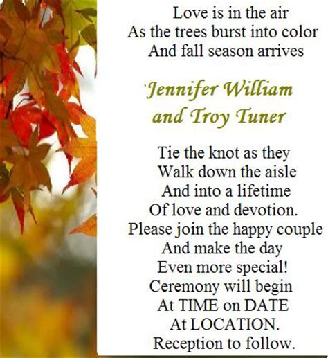fall wedding invite wording wedding invitation wording ideas just another site