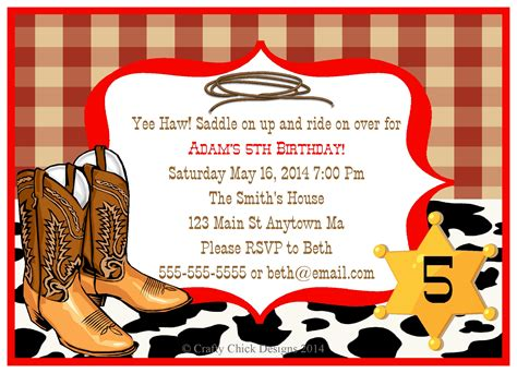free templates for cowboy invitations great cowboy birthday invitations party ideas all
