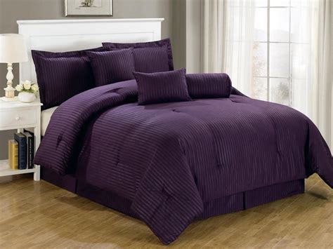 total fab deep dark purple comforters bedding sets