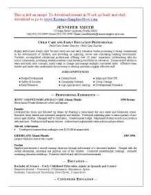 Sample Child Care Resume 10 resume cover letter for child care worker resume