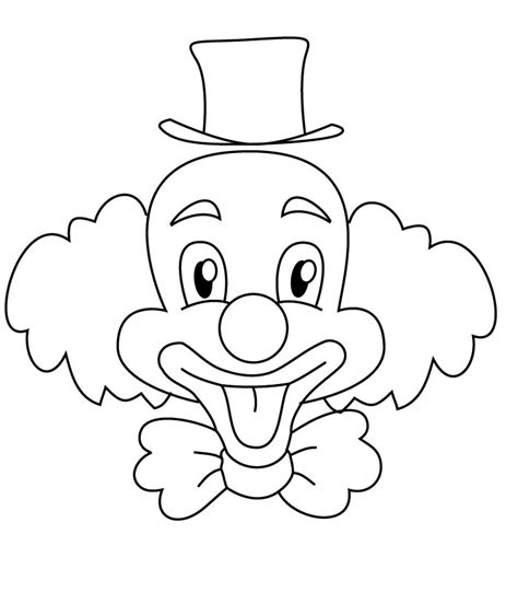 Free Coloring Pages Of Clown Drawing Clown Coloring Page