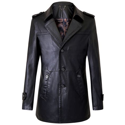 Cheap Leather by Get Cheap Mens Leather Trench Coat Aliexpress