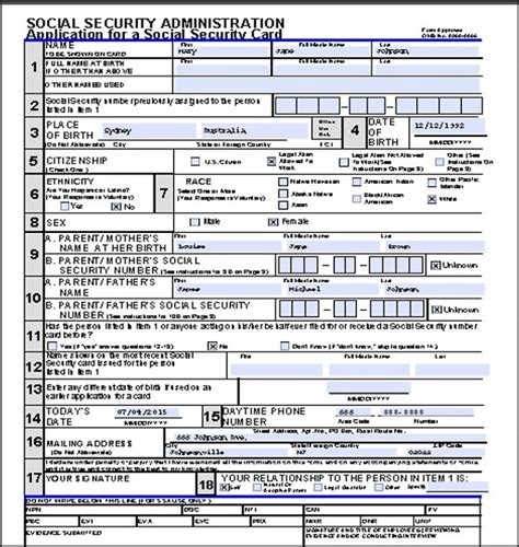 social security form how to apply for a social security card in the usa