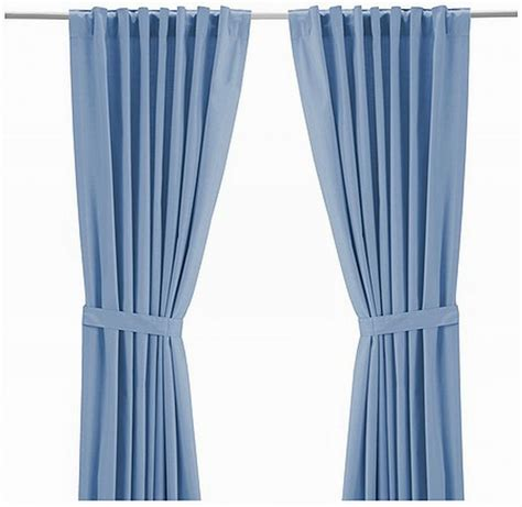 ikea curtains ritva ikea ritva light blue curtains drapes heavy cotton 98 quot