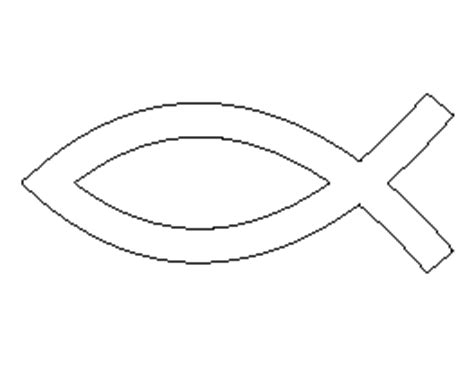 christian fish template free symbol patterns for crafts stencils and more page 2