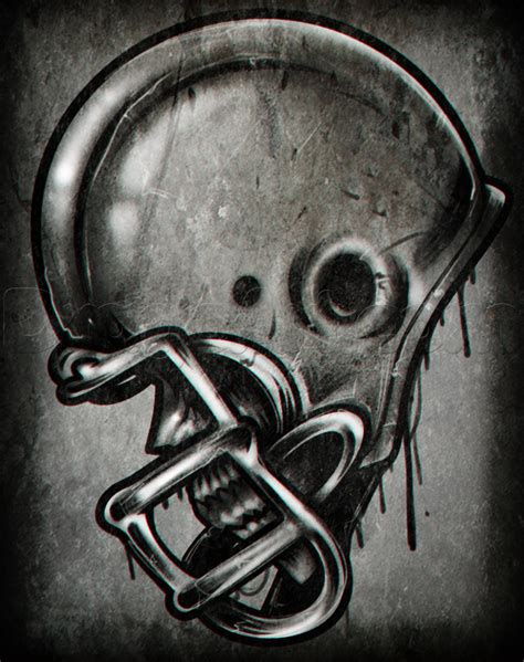 american football tattoo designs how to draw a football helmet step by step skulls pop
