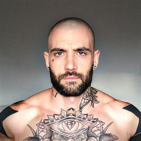 male pattern baldness tattoo 17 best images about bald tattooed and bearded on
