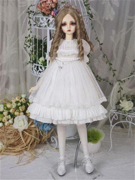 anatomically correct anime dolls bjd clothes white dress for sd16 sd10 msd