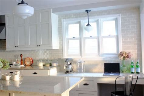 White Backsplash Tile For Kitchen white subway tile backsplash kitchen home design ideas