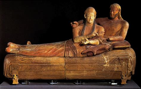 Sarcophagus Of Reclining by History 1051 Gt Dobbins Gt Flashcards Gt Etruscan