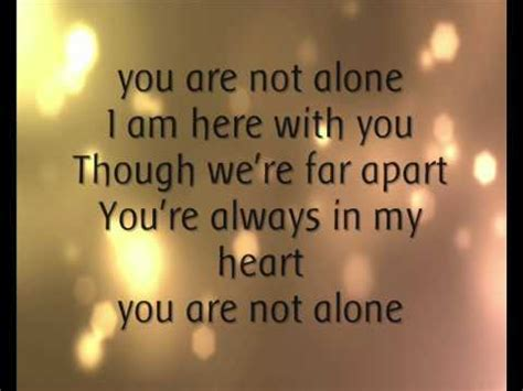 who am i if you re not you books michael jackson you are not alone lyrics