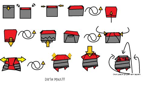 Origami Wars Puppets - extremegami how to make a origami darth maul finger puppet