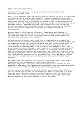 Agents Of Socialization Essay by Chapter Two 2013 Chapter Two Foundations Of Socialization This Chapter