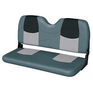 marine folding bench seat wise marine seating 42 quot bench seat charcoal gray black