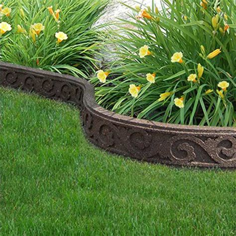 Landscape Edging Rubber 122m Recycled Rubber Edging Flexi Curve Scroll H9cm On Sale