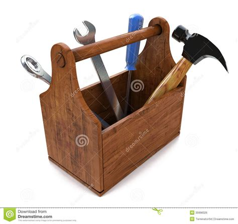 3d design tools toolbox with tools 3d royalty free stock image image 35998326