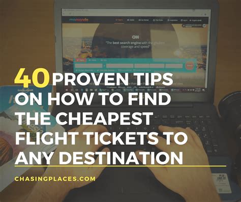 40 proven on how to find the cheapest flight tickets to any destination in the world