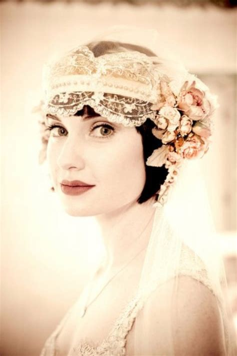 1920 bridal hair styles veil options for the vintage bride weddingbells