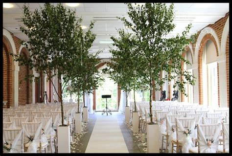 Wedding Aisle Trees by Silver Birch Trees Wedding The Flower Company