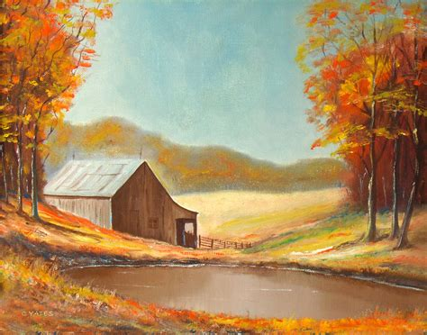 country paintings country barn painting by charles yates