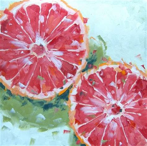 compelled to paint the of david boyd jr pink grapefruit on green 077