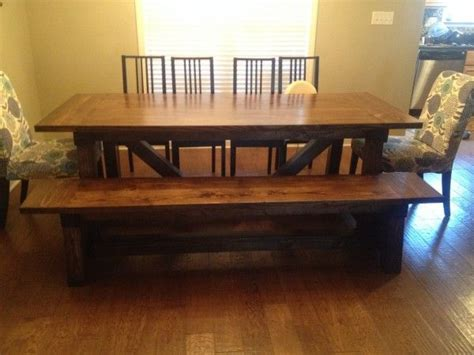 ana white 4x4 truss dining room table and bench diy 1000 images about dining room table on pinterest
