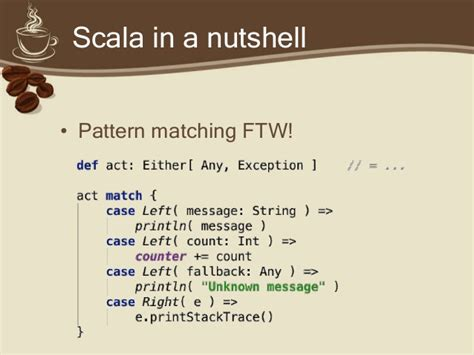 pattern matching scala string scala in practice