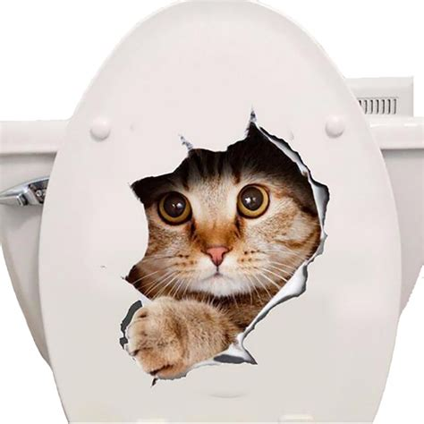 wall stiker kucing sangkar 3d cats wall sticker toilet stickers view dogs