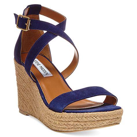 steve madden purple sandals steve madden womens montaukk platform wedge sandals in