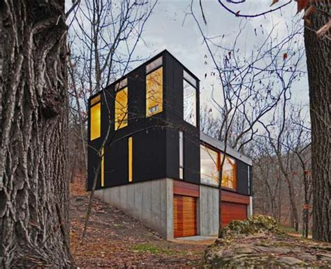 small modern cabin cabin in the woods with a twist stacked cabin modern cabins